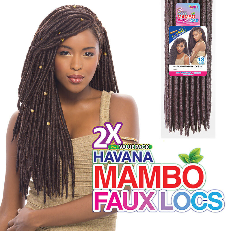 Janet Collection Synthetic Crochet Braiding Hair Havana Mambo Faux