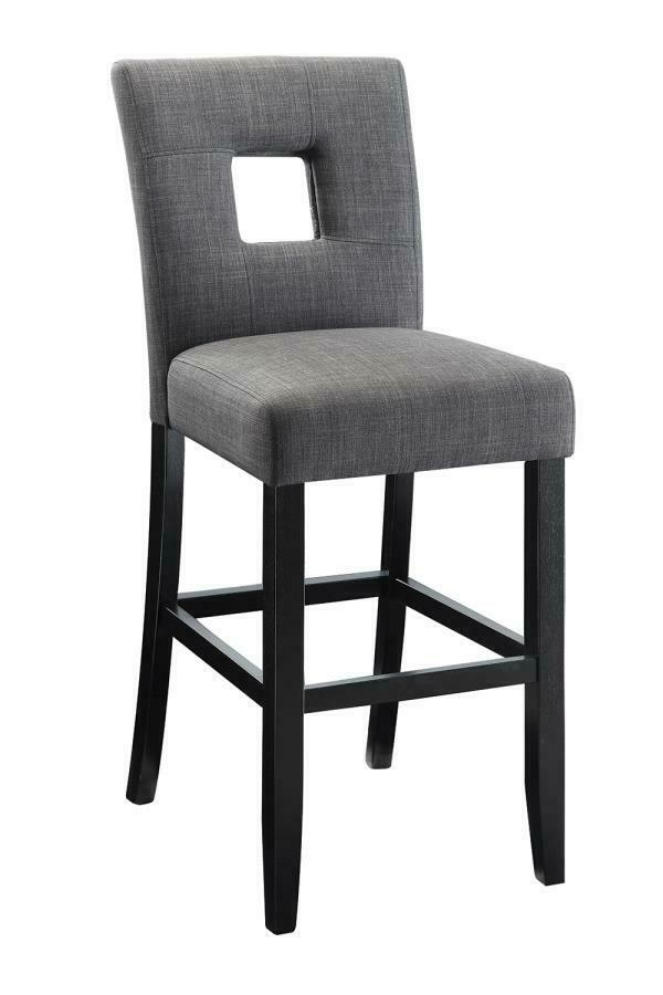 Charcoal Fabric Counter Height Dining Chair By Coaster