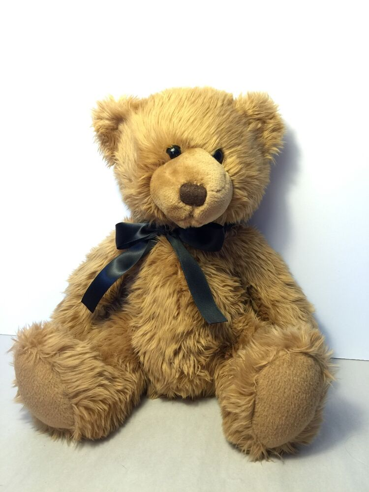 Russ Berrie Plush Sitting Brown Teddy Bear Collectible