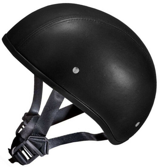 Daytona Genuine Leather Motorcycle Half Helmet Low Profile