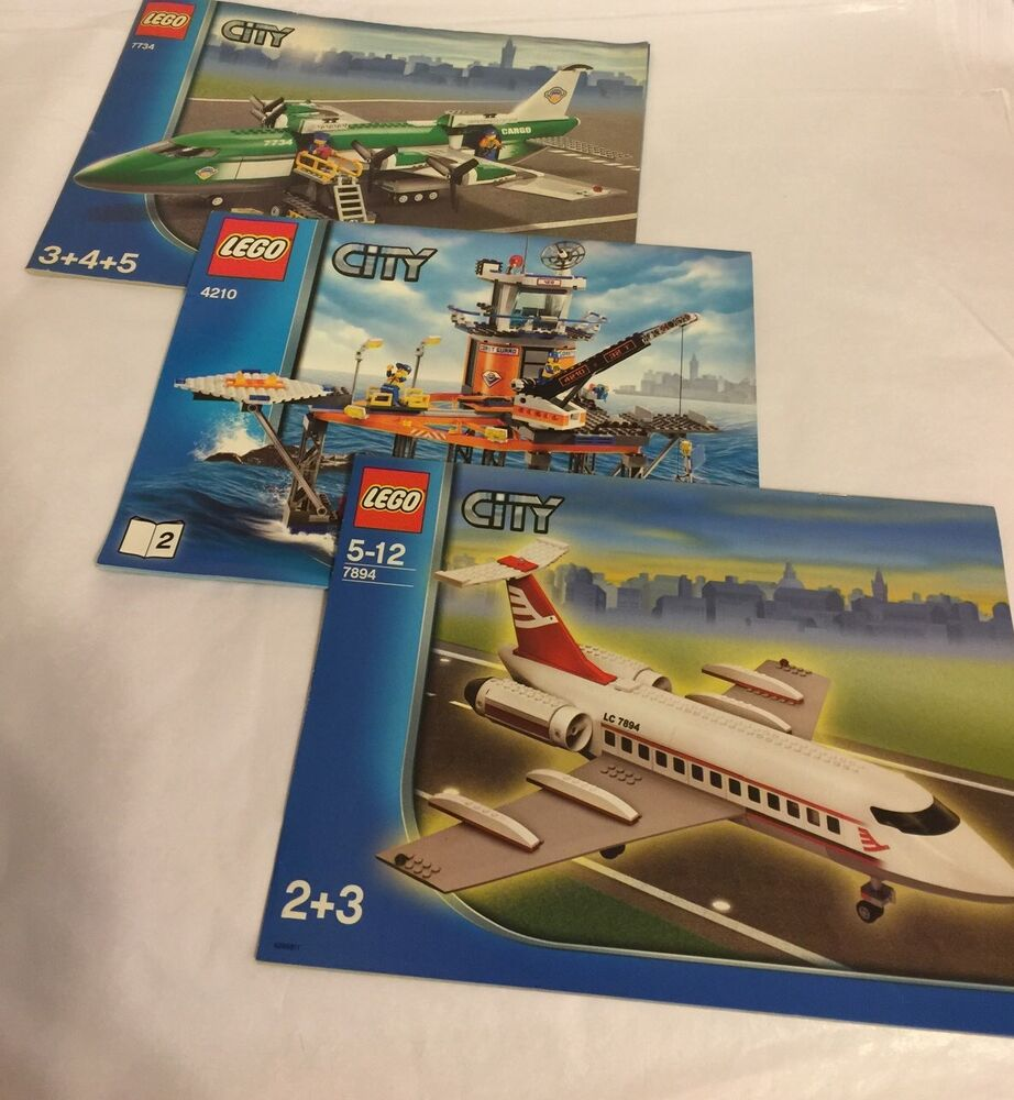 Lego City 7894 7210 7834 Plane Airplane Coast Guard Instruction