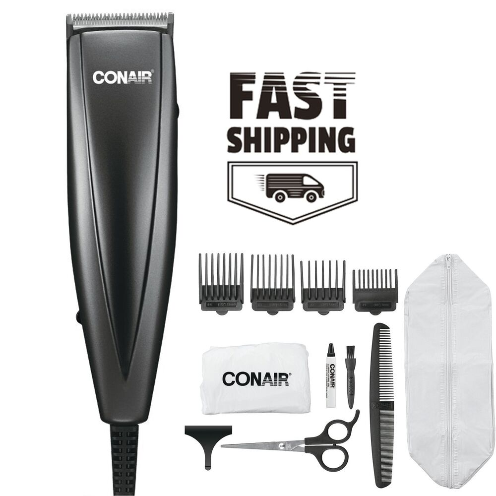 conair beard mustache hair shaver clipper trimmer for men stainless corded new ebay. Black Bedroom Furniture Sets. Home Design Ideas