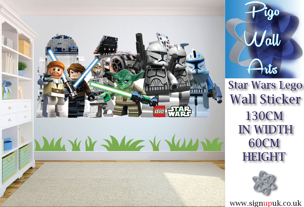 Star Wars Lego Extra Large Wall Sticker Childrens Bedroom