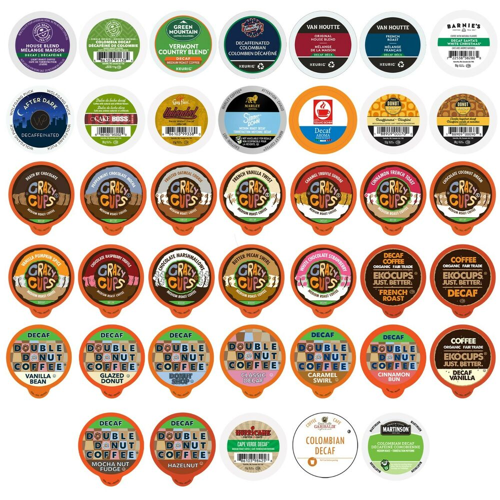 Decaf Coffee Single Serve Cups For 2.0 K Cups Variety Pack