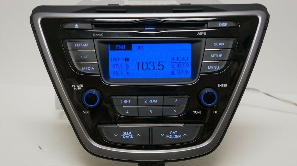 2011 2012 2013 Hyundai Elantra Cd Player Radio Mp3 Xm Satellite Bluetooth Oem 13 Ebay
