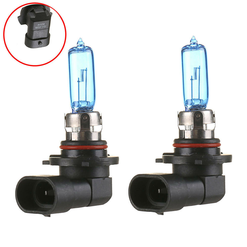 2x 9006 hb4 6000k xenon gas halogen headlight super white. Black Bedroom Furniture Sets. Home Design Ideas