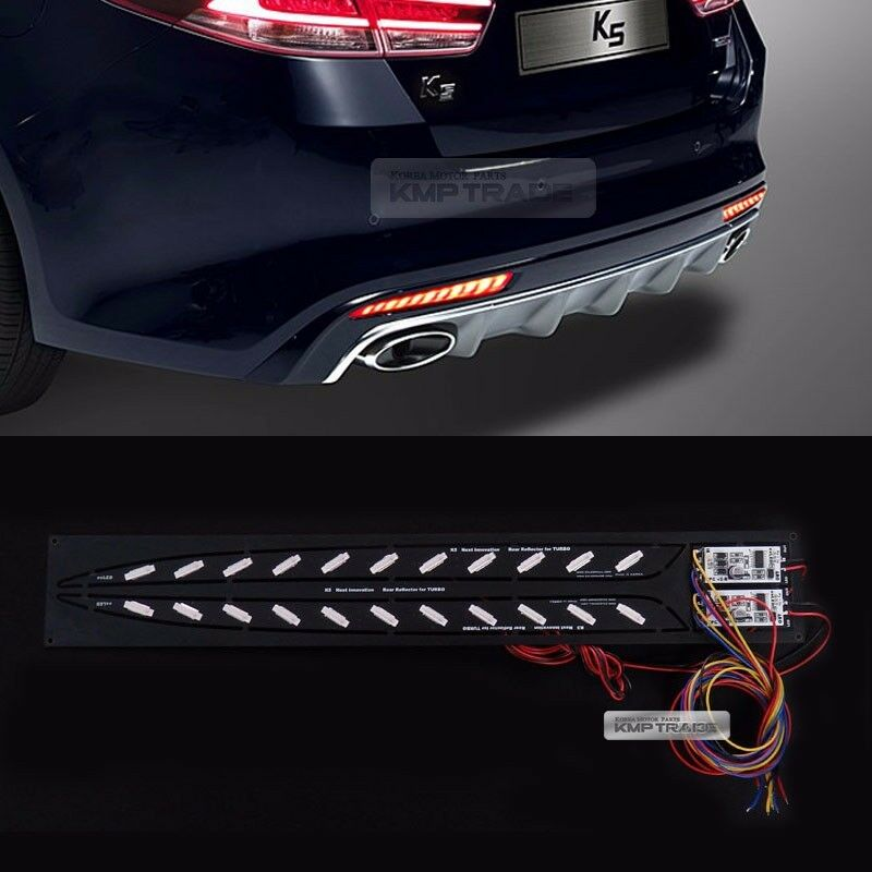 rear bumper reflector 2way brake led module for kia 2016 2018 optima k5 sx turbo ebay. Black Bedroom Furniture Sets. Home Design Ideas