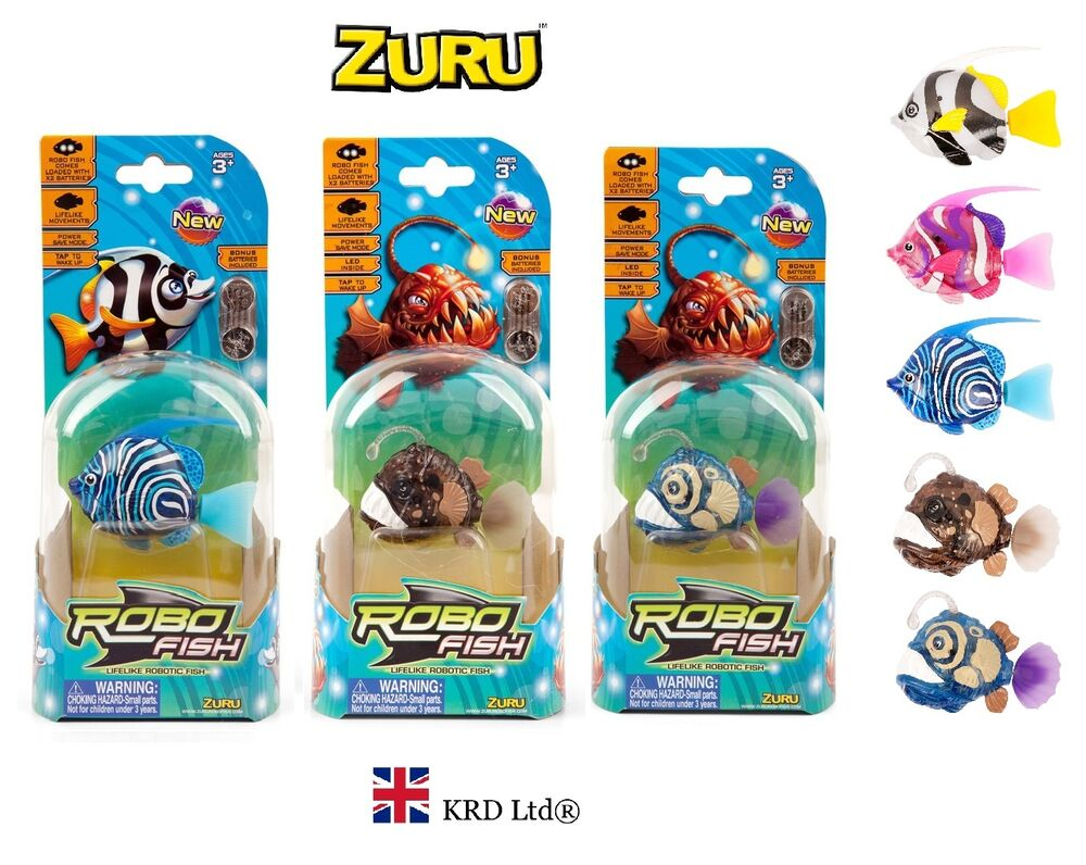 Genuine zuru deep sea robo fish robotic random design pet for Zuru robo fish