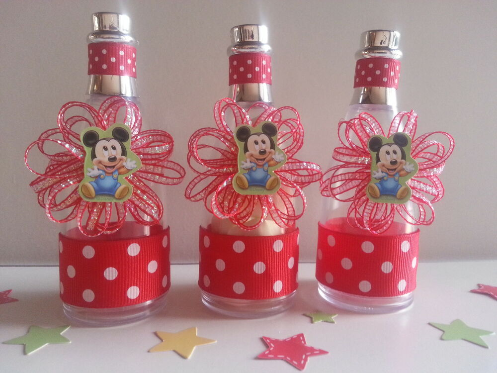 12 mickey mouse fillable champagne bottles baby shower boy first