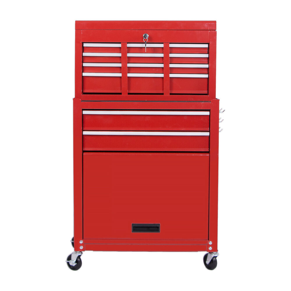 Rolling Tool Chest& Cabinet Toolbox Organizer Garage