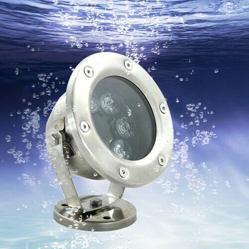 Led Flood Pool Light Underwater Lamp Waterproof 12v 24v Fountain Landscape Lawn Ebay