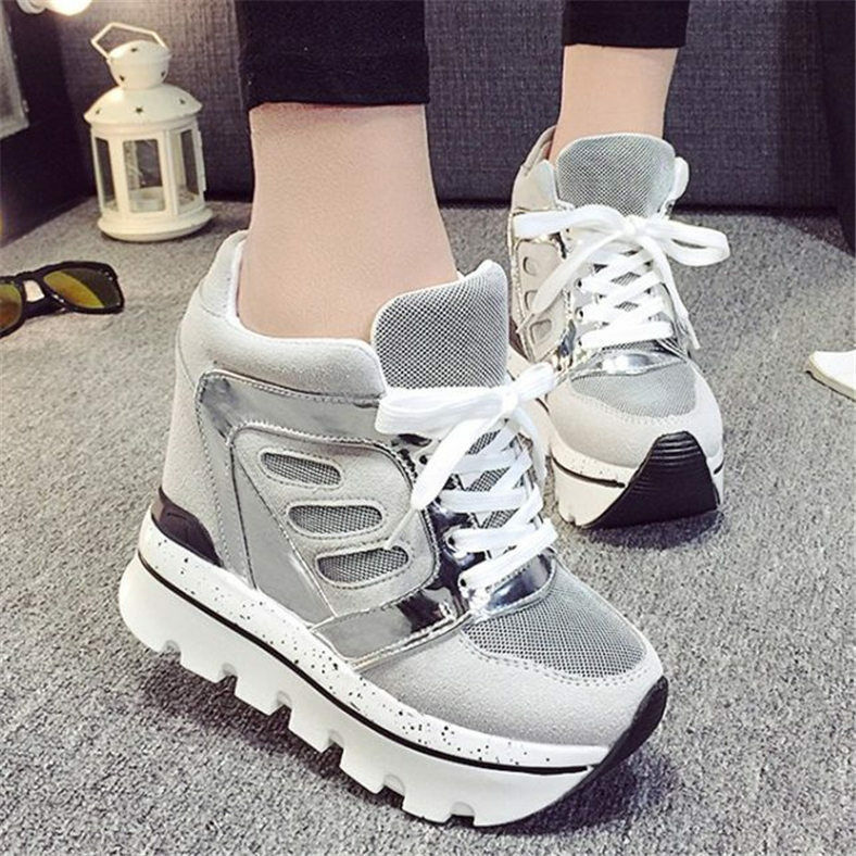 12cm Heel New Womens Super High Platform Wedges Fashion ...