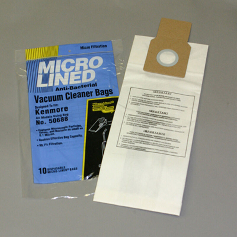 Kenmore 50688 Vacuum Bags Microfiltration With Closure