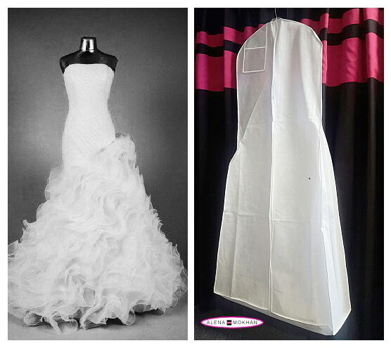 Wedding Gown Garment Bag: Huge Monster Extra Large White Breathable Wedding Gown Bag