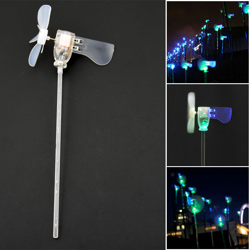 Vertical diy project turbines led windmill small dc motor for Dc motor light led