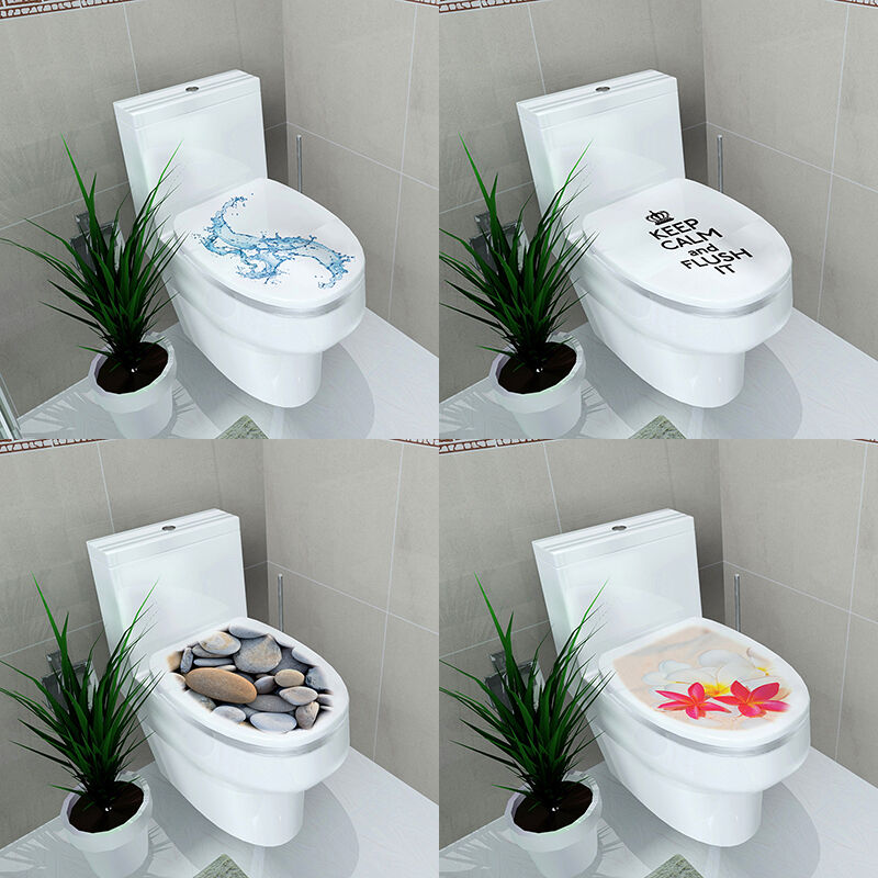 Diy Toilet Seats Wall Stickers Bathroom Decoration Decal Vinyl Mural Home Decor Ebay