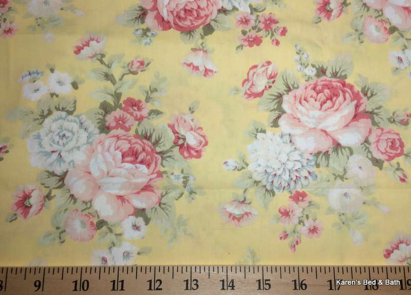 Shabby Floral Rose Pink Amp Yellow Peony Flowers Handcrafted