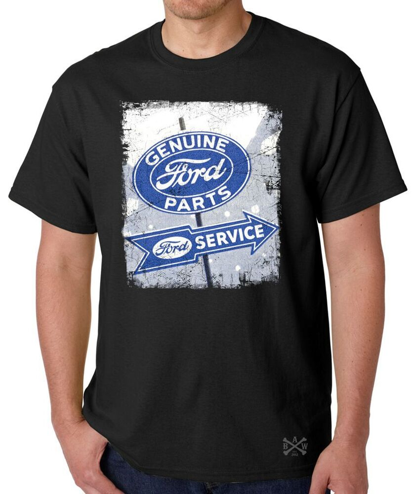 genuine ford parts sign t shirt tee vintage blue oval. Black Bedroom Furniture Sets. Home Design Ideas