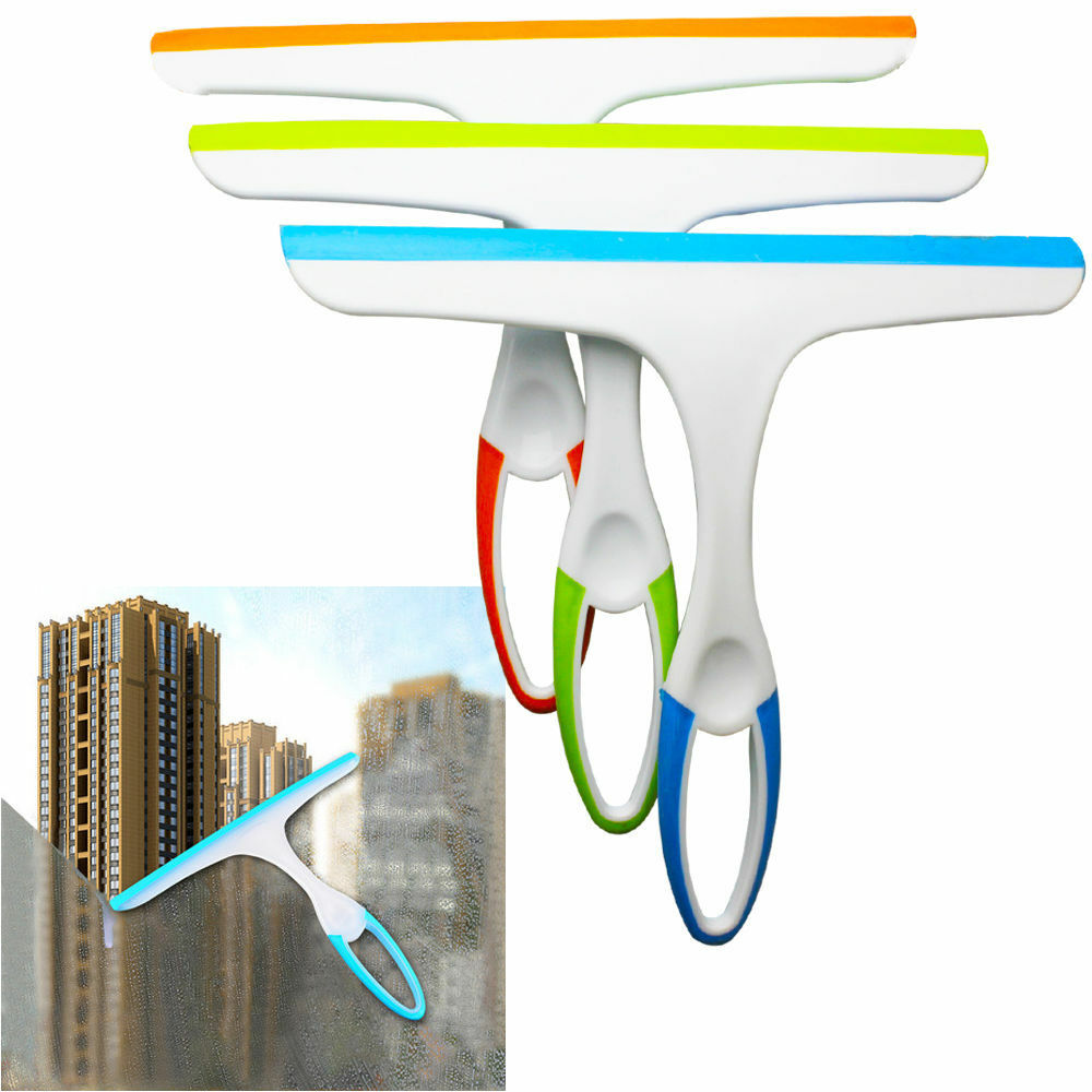 Glass window wiper soap cleaner squeegee home shower bathroom mirror car blade ebay - Diy tips home window cleaning ...