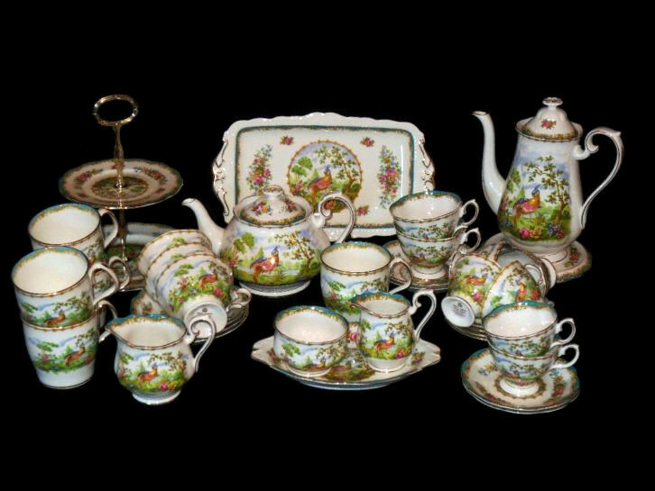 royal albert chelsea bird teeservice und geschirr english bone china ebay. Black Bedroom Furniture Sets. Home Design Ideas