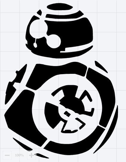 Reusable Mylar BB8 Star Wars Stencil Template for Crafting