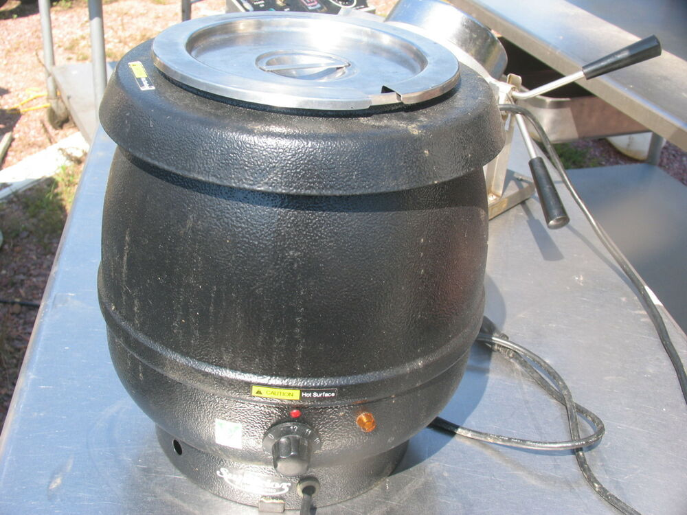 Electric Soup Warmer ~ Commercial pro quart silver electric soup kettle warmer