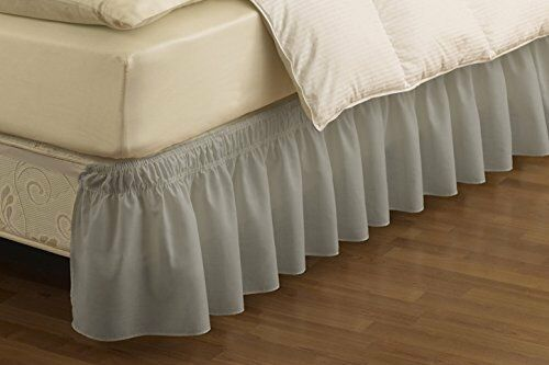 king bed skirt easyfit wrap around solid ruffled bed skirt king 980