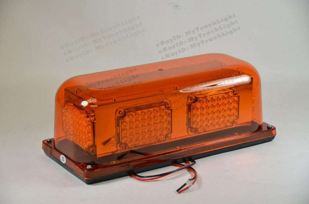 Led 12vdc Permanent Snow Plow Warning Strobe Amber Light