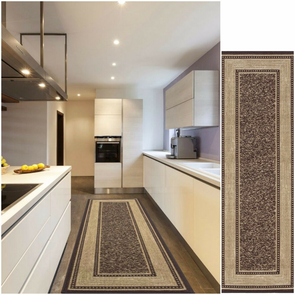 Modern hall runner rug long rugs hallway area carpet non for Contemporary runner rugs for hallway