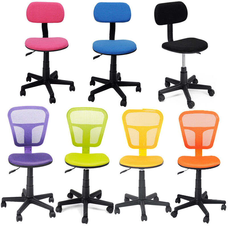 Home Office Computer PC Desk Task Chair Adjustable Student Kids Swivel Chairs