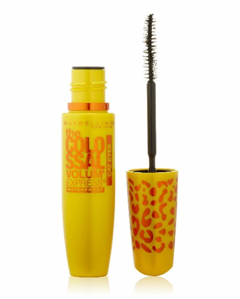 01e9ad159bc Details about Maybelline Volum' Express Cat Eyes Waterproof Mascara, Glam  Black [241]