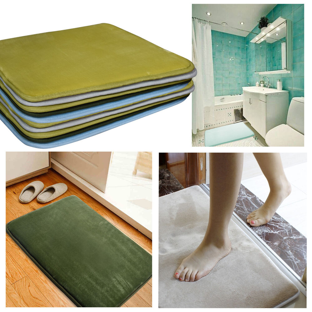 Memory foam non slip floor mats bath shower carpet for Rug in bedroom