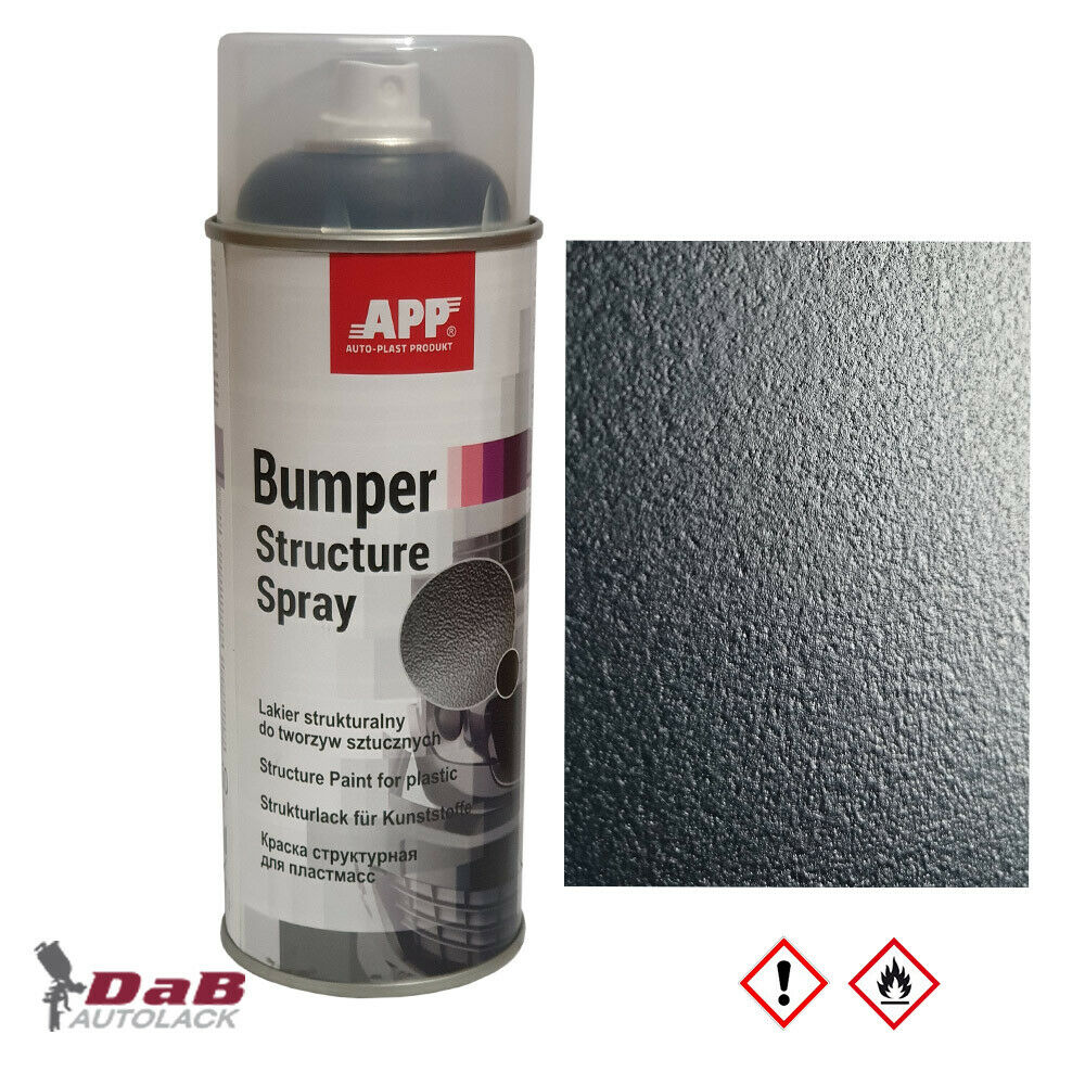 app 1k strukturlack f r kunststoffe schwarz 400ml spray 210411 ebay. Black Bedroom Furniture Sets. Home Design Ideas