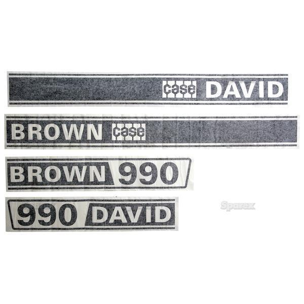 Case Tractor Decal Sets : Case david brown selectamatic tractor basic hood