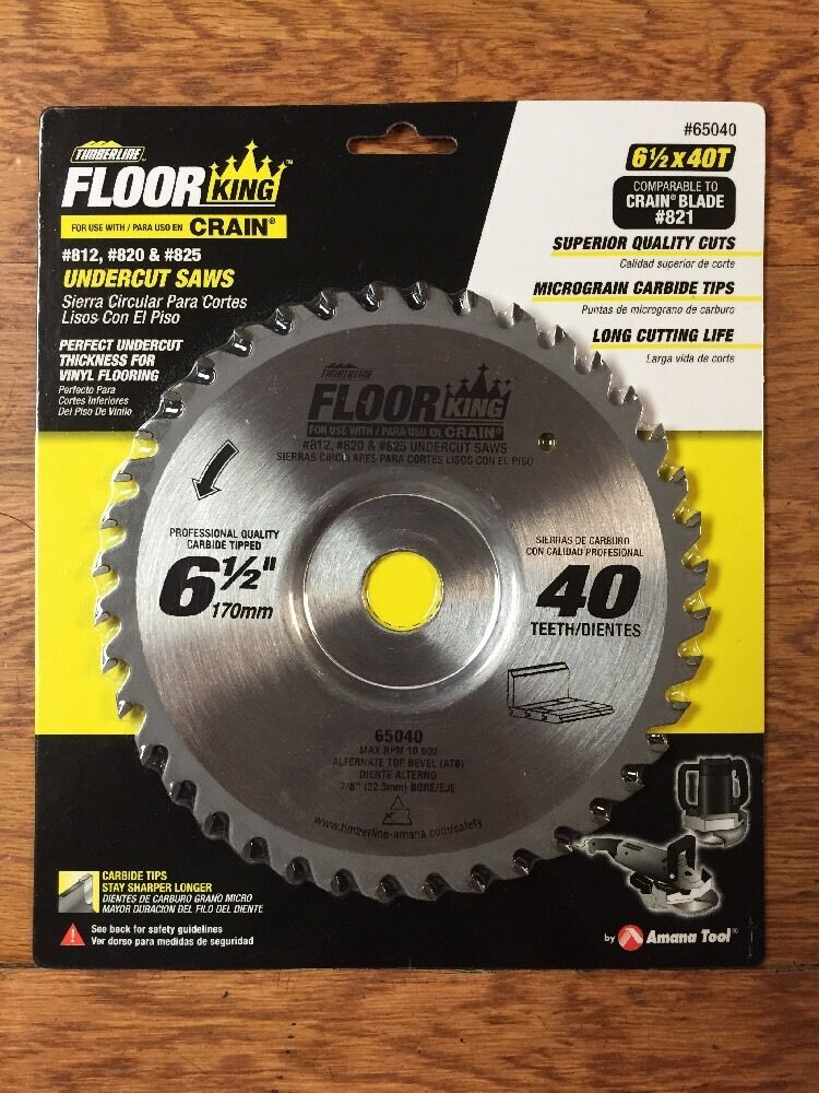 Floor King Jamb Saw Blade 65040 821 For Crain 812 820