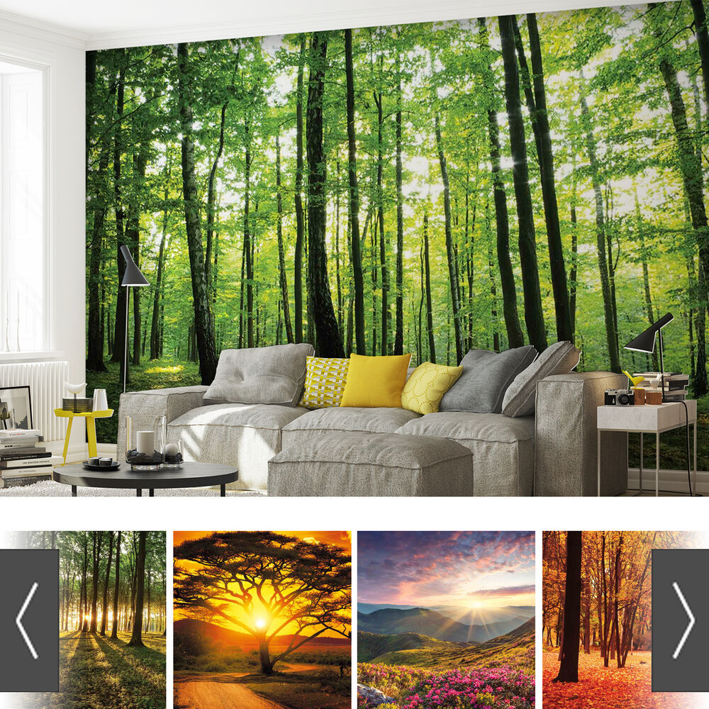 Wallpaper Decal: FORESTS NATURE FLOWERS PHOTO WALLPAPER MURAL
