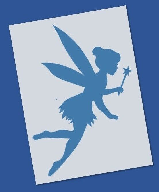 reusable mylar tinkerbell stencil template for crafting. Black Bedroom Furniture Sets. Home Design Ideas