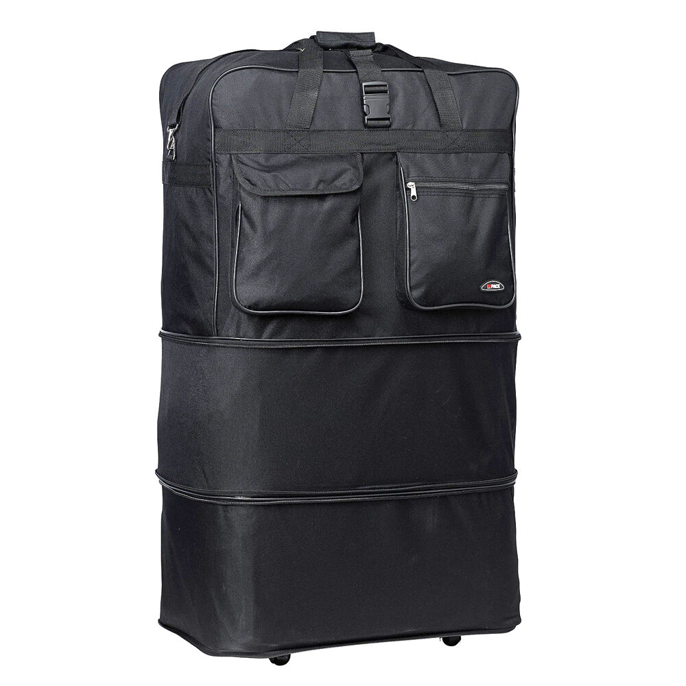 36 xl expandable rolling wheeled duffel bag spinner. Black Bedroom Furniture Sets. Home Design Ideas