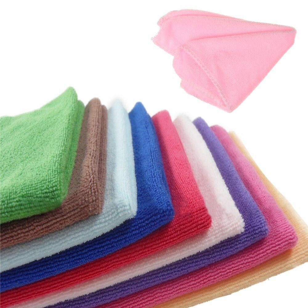 Zip Soft Microfiber Towel: 10xSquare Color Practical Luxury Soft Microfiber Cotton