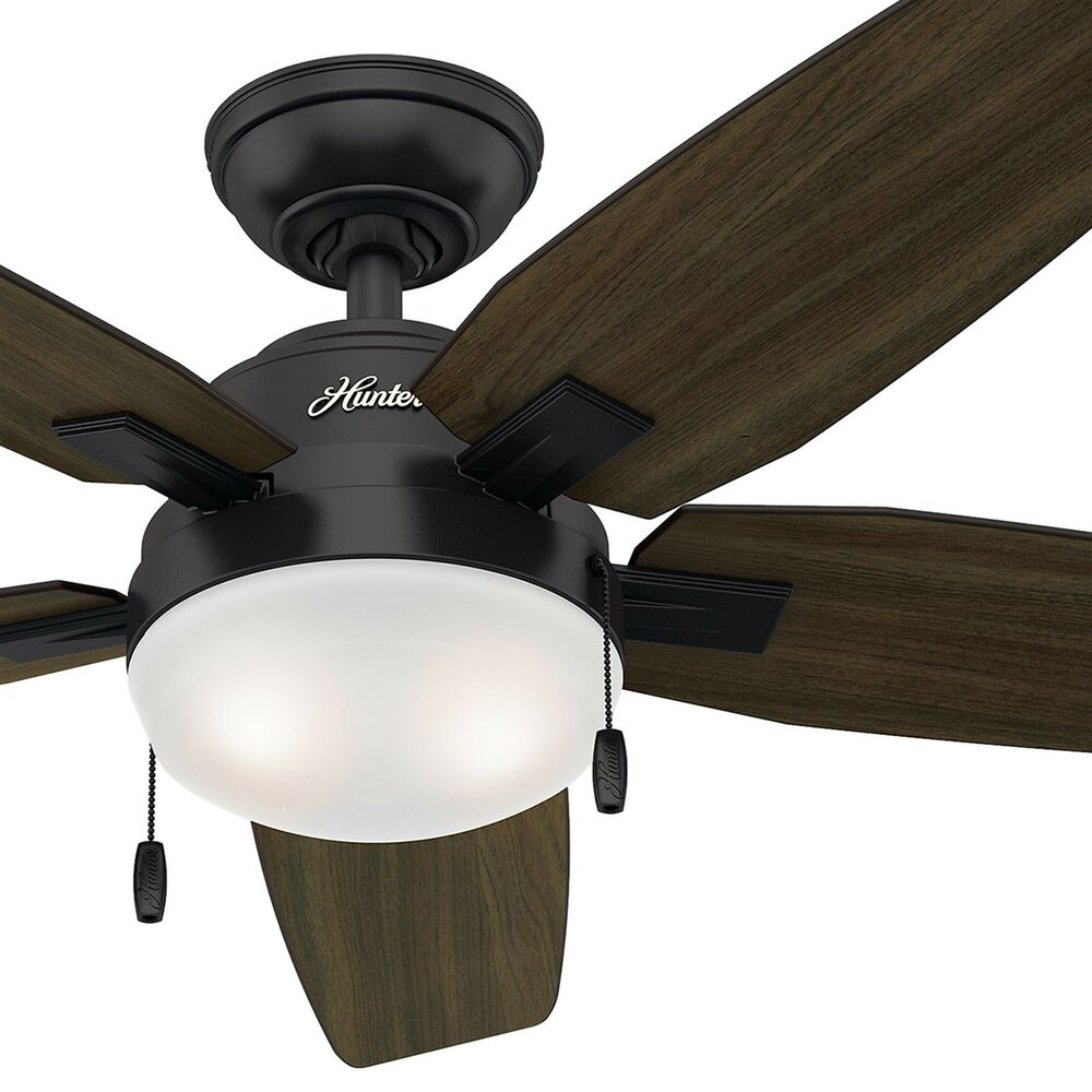 hunter ceiling fan light kit 46 quot noble bronze contemporary ceiling fan cfl 29063