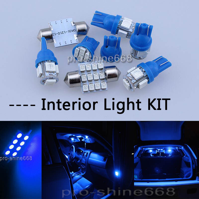 Blue Smd Led Interior 9pcs Lights Plate Package For Ford Focus 2000 2007 Ebay