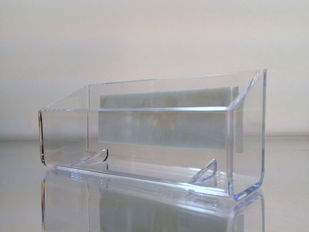 New self stick clear acrylic plastic business card display for Clear plastic business card holder