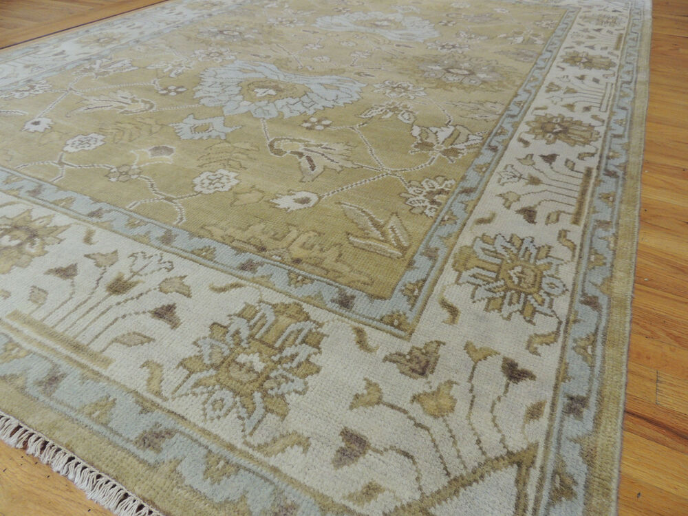 Fabulous Antique Wash Vegetable Dye Oushak Oriental Area