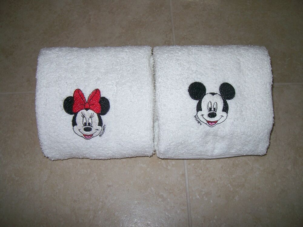 Mickey And Minnie Mouse 2 Hand Towels Personalized Ebay
