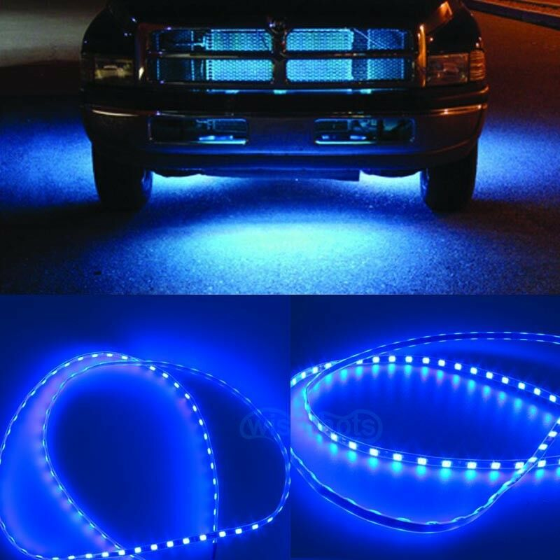 4pcs blue body glow kit neon led lighting undercar underbody strips for ford ebay. Black Bedroom Furniture Sets. Home Design Ideas