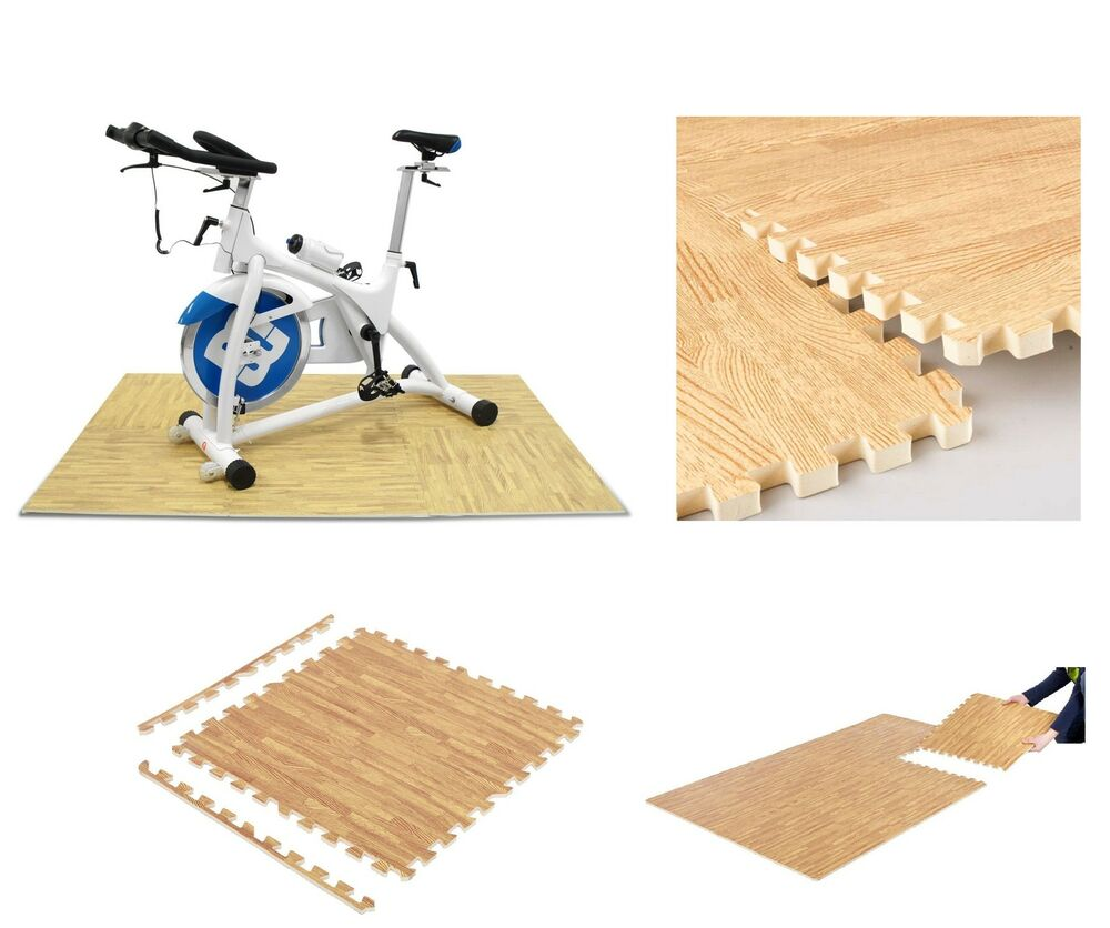 Interlocking Wood Effect Eva Mat Soft Foam Flooring Mats