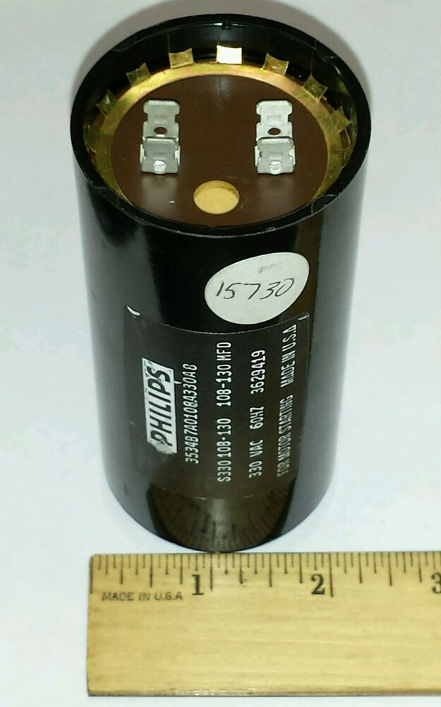 Philips 3534b7a0108a330a8 Start Capacitor S330 108 130 Mfd