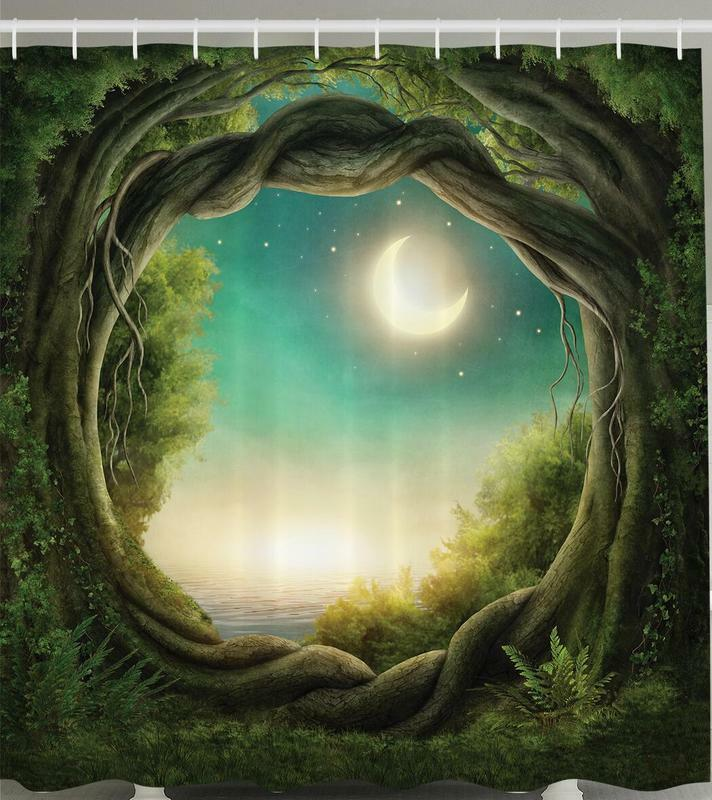 Branches celestial moon fairy land forest theme shower curtain ebay