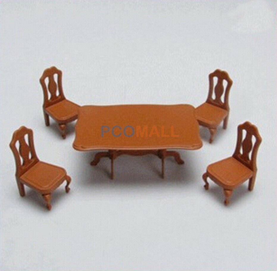 Miniature dollhouse furniture table chairs set plastic for sylvanian families ebay Plastic for furniture