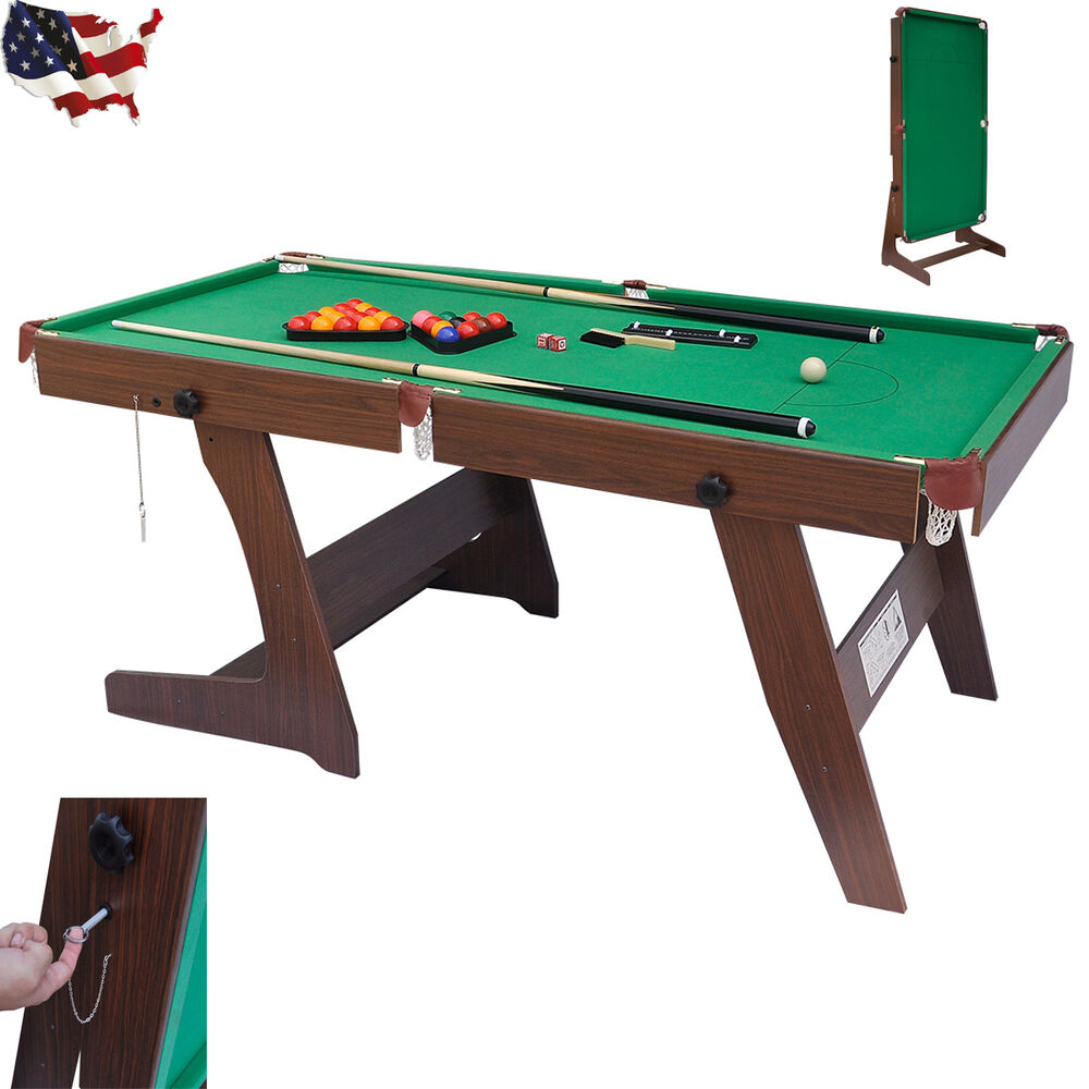 6ft pub style folding snooker and english pool table for Table 6 games